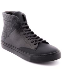 Jared Lang - Leather High Top Trainer - Lyst