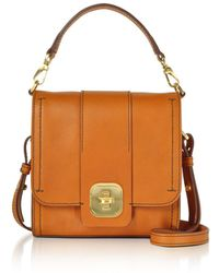The Bridge - Men's Orange Leather Messenger Bag - Lyst