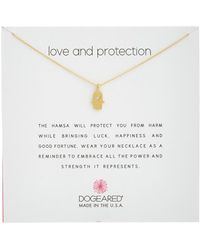 Dogeared - Reminder Collection Hamsa 14k Over Silver Necklace - Lyst
