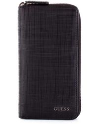 Guess - Men's Black Leather Wallet - Lyst