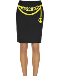 Moschino - Women's Black Acetate Skirt - Lyst