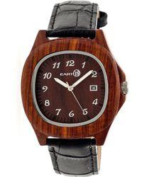 Earth Wood - Sherwood Leather-strap Watch - Lyst