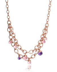 Rebecca - Women's Multicolor Steel Necklace - Lyst