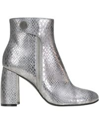 Stella McCartney - Women's Silver Faux Leather Ankle Boots - Lyst