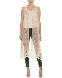 Jack BB Dakota - Floral Long Vest - Lyst