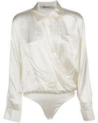 Alexander Wang - Women's 4w277002q3106 White Silk Bodysuit - Lyst