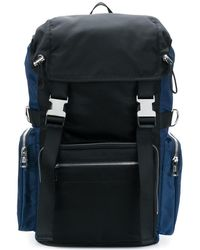 Diesel Black Gold - Men's Blue/black Polyamide Backpack - Lyst