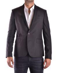 Les Hommes - Men's Black Polyester Blazer - Lyst
