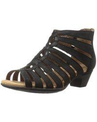 Cobb Hill - Womens Abbott Leather Open Toe Casual Strappy, Black Nubuck, Size 9.0 - Lyst