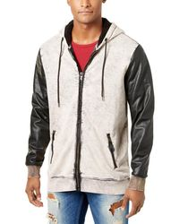 Guess - Mens Fall Faux Leather Moto Coat - Lyst