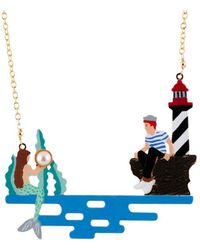 Les Nereides - I Am A Mermaid Sailor Gazing At Offshore Mermaid Necklace - Lyst