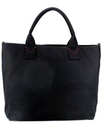 Pinko - Women's Black Cotton Tote - Lyst