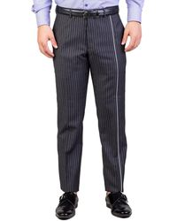 Dior | Homme Men's Skinny Fit Striped Dress Pants Pinstriped Grey | Lyst