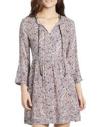 William Rast - Womens Atalia Paisley Print Day Time Mini Dress - Lyst