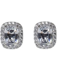 Jarin K - P/6x8mm Radiant Cushion W/pave Halo - Lyst