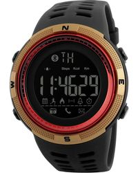Swiss Time Watches - Gold & Red Galaxy Band Smart Watch - Lyst
