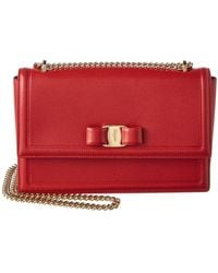 Ferragamo - Ginny Medium Vara Leather Flap Bag - Lyst