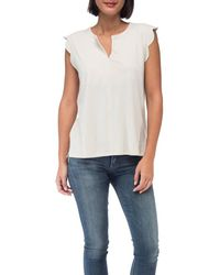 Bobeau - Stacey Washed Cotton Top - Lyst