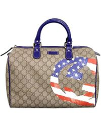 Gucci - Beige Coated Canvas American Flag Joy Boston Bag - Lyst