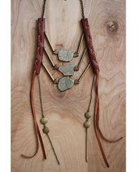 Love Leather - Bronze Dynasty Necklace - Lyst