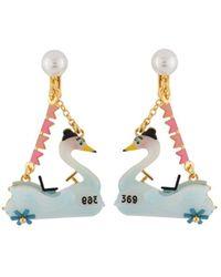 Les Nereides - Joyland Bumper Swan Clip Earrings - Lyst