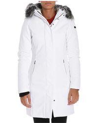 Rrd - Women's White Polyamide Coat - Lyst