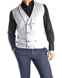 Massimo Rebecchi - Men's Grey Cotton Vest - Lyst