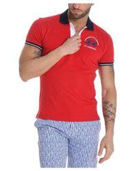La Martina - Men's Red Cotton Polo Shirt - Lyst