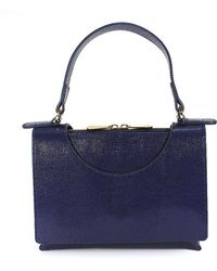 L'Autre Chose - Women's Blue Leather Shoulder Bag - Lyst