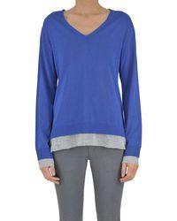 Seventy - Women's Blue/grey Viscose Sweater - Lyst