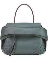 Tod's - Women's Green Leather Shoulder Bag - Lyst