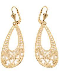 Peermont - Gold Textured Teardrop Earrings - Lyst