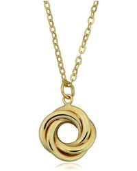 Jewelry Affairs - 10k Yellow Gold Love Knot Pendant Necklace, 18 - Lyst
