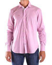 Etiqueta Negra - Men's Pink Cotton Shirt - Lyst