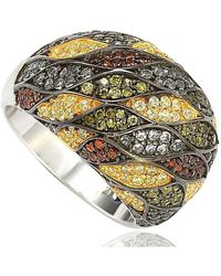 Suzy Levian - Sterling Silver Cubic Zirconia Multi-color Pave Dome Ring - Lyst