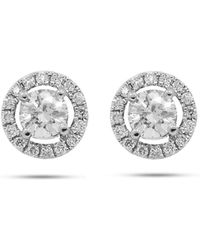 Diana M. Jewels - White Gold Stud Earrings With 0.44 Carat Of Total Diamond Weight - Lyst