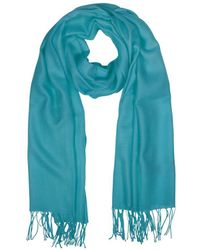 Mila Schon - Women's Light Blue Wool Scarf - Lyst