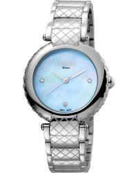Ferrè Milano - Women's Rose Gold Dial Stainless Steel Watch - Lyst