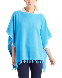 J.McLaughlin - Asha Cotton Poncho With Tassels - Lyst