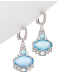 Judith Ripka - Aspen Silver 7.80 Ct. Tw. Gemstone Drop Earrings - Lyst