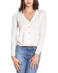 Sun 68 - Women's White Cotton Cardigan - Lyst