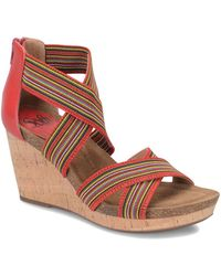 Söfft - Cary Leather Wedge Sandal - Lyst