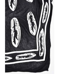 "Lauren Moshi - 1 Black And White Bullet Print ""love's A Battlefield"" Oblong Scarf - Lyst"