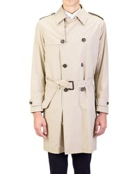 Prada - All Designer Products - Men's Lightweight Canvas Viscose Trench Coat Jacket Khaki - Lyst