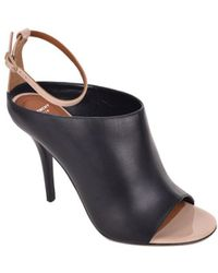 Givenchy - Black Leather Ankle Strap Open Toe Sandals - Lyst