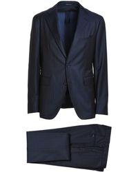 Tagliatore - Men's 2smc22b0155uez099b3283 Blue Wool Suit - Lyst
