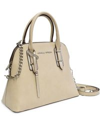 Adrienne Vittadini - Evelyn Collection Dome Satchel With Chain Strap - Lyst