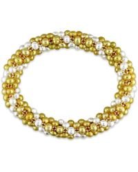 Catherine Malandrino - Multi-strand Bracelet With Freshwater Cultured Pearls - Lyst
