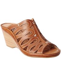 Pikolinos - Capri Leather Wedge Sandal - Lyst
