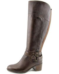 Marc Fisher | Womens Kacee Wide Calf Leather Closed Toe Knee High Cold Weather ... | Lyst
